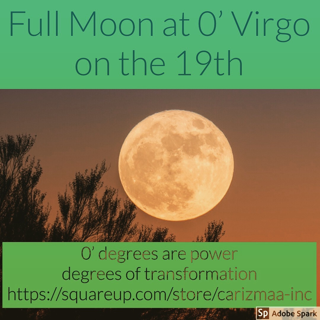The Full Moon at 0′ Virgo