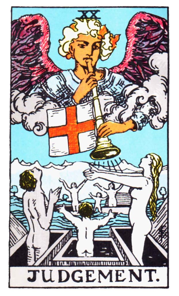judgement raider waite tarot arch angel Gabriel spring equinox