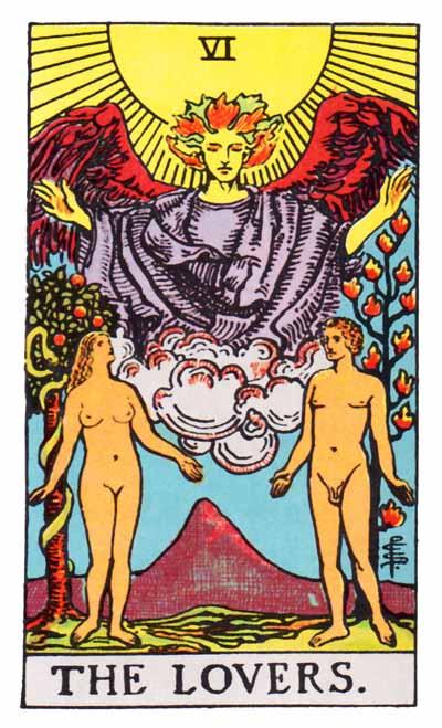 Lover card Raider waite tarot arch angel Rapael fall equinox