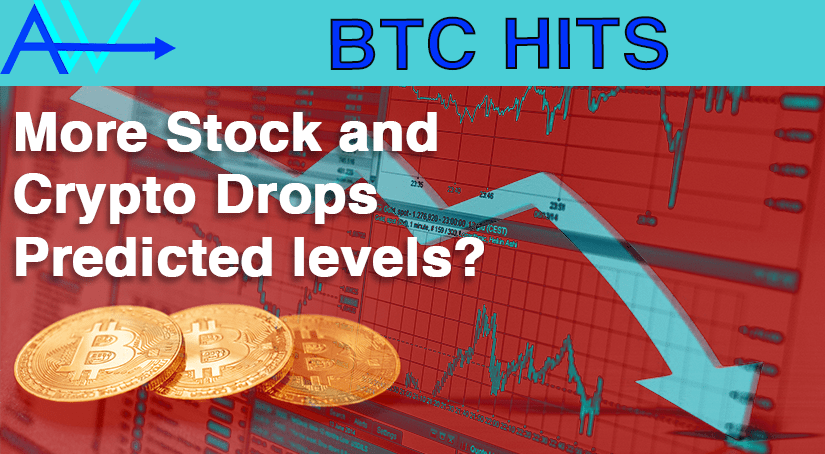 More Stock and Crypto Drops – predicted levels?